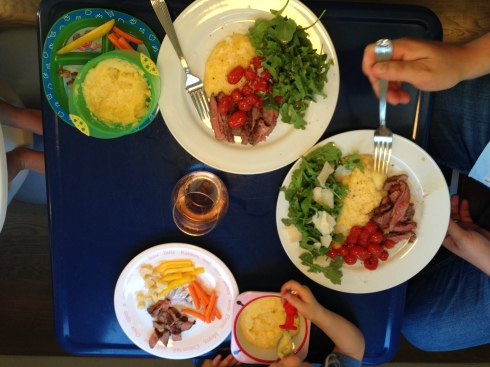 Steak tagliata and polenta is a family favorite in our household.